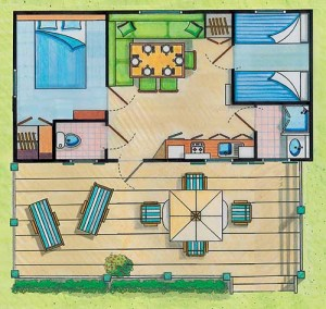 Plan du cottage Bretagne