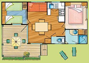 Plan du Cottage Pacifique