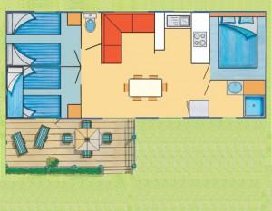 Plan du cottage Morbihan 7 personnes