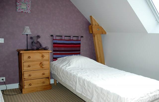 Chambre 2 lits simples du gîte Le Pressoir