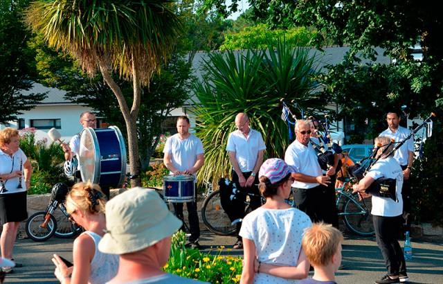 Musique bretonne avec le Bagad de Baden