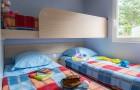 Chambre avec 3 lits simples dont 1 superposé du cottage Bretagne
