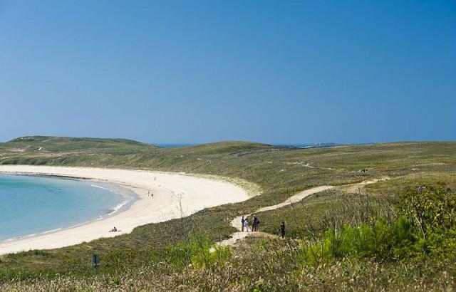 La plage Trearc'h à Houat Xavier Dubois