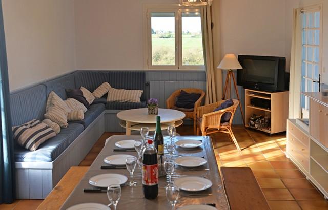 Salle à manger salon de la villa Er Scoudec