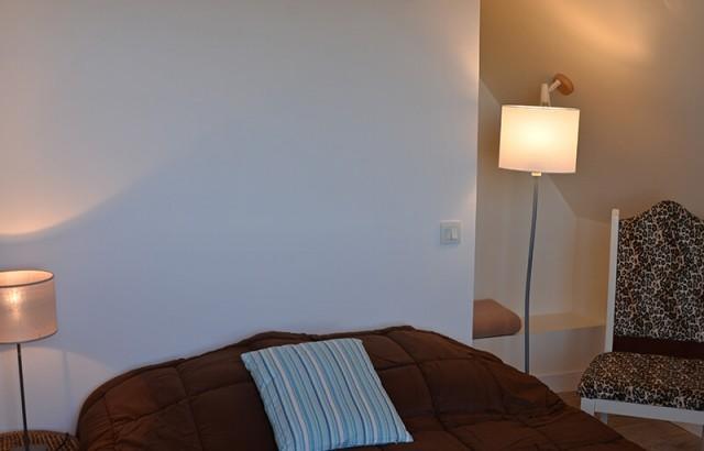 Chambre avec lit double à l'étage