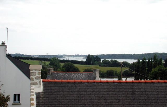 Vue sur le Golfe du Morbihan depuis la villa Er Scouedec