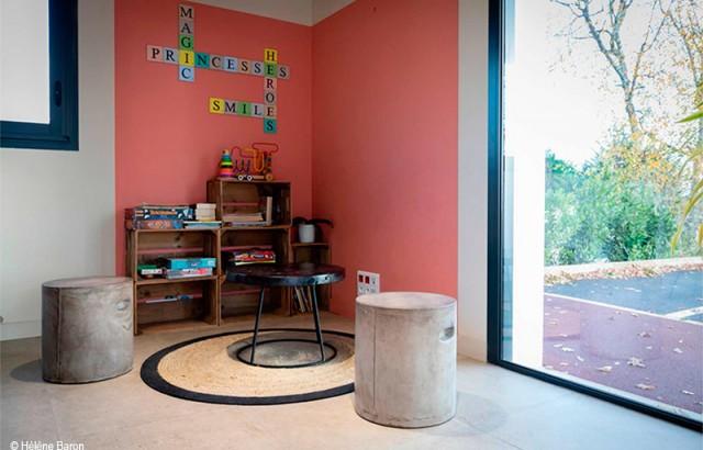 L'espace enfants à la réception