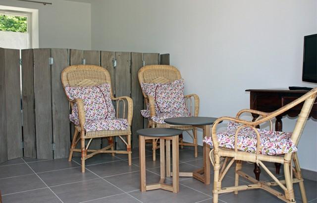 Salon séjour du studio l'Etable