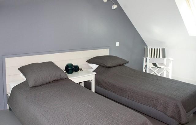 Chambre 2 lits simples du gîte La Grange