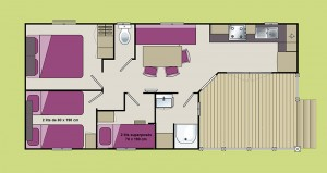 Plan du chalet Lodge
