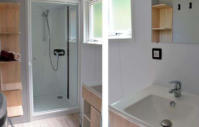 Salle de bain du cottage Morbihan
