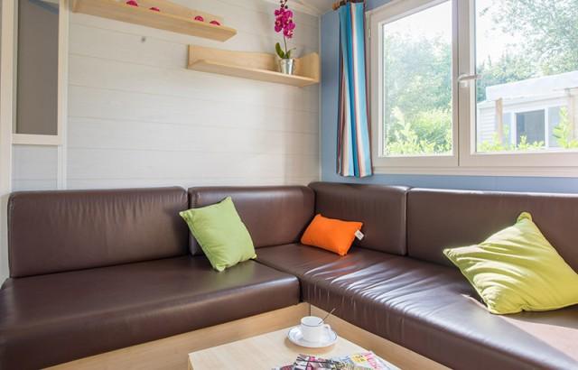 Autre version du séjour cottage Morbihan