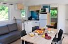 Séjour cuisine du cottage Morbihan