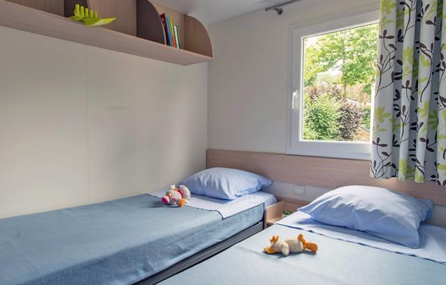 Chambre avec 2 lits simples cottage Pacifique