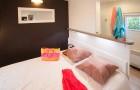 Chambre avec lit double 160x200 Patio 4 fleurs
