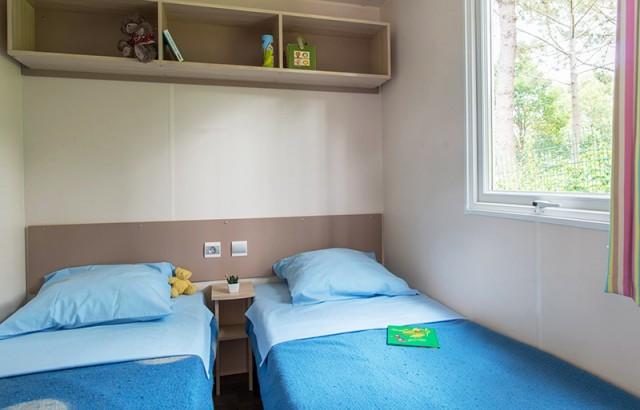 Chambre 2 lits simples du cottage Penty