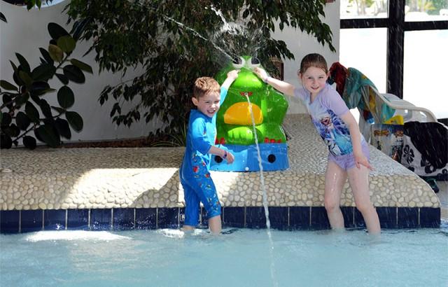 Games voor kinderen in het kinderbad