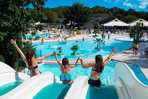 Campsite with waterpark in South Brittany