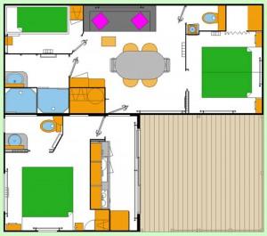 Plan du Chalet Ty Bihan