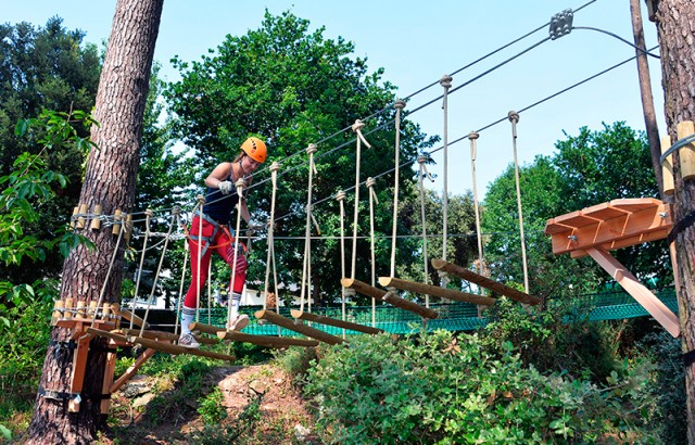 The adventure course is fun!