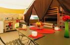 Coin cuisine de la tente Safari
