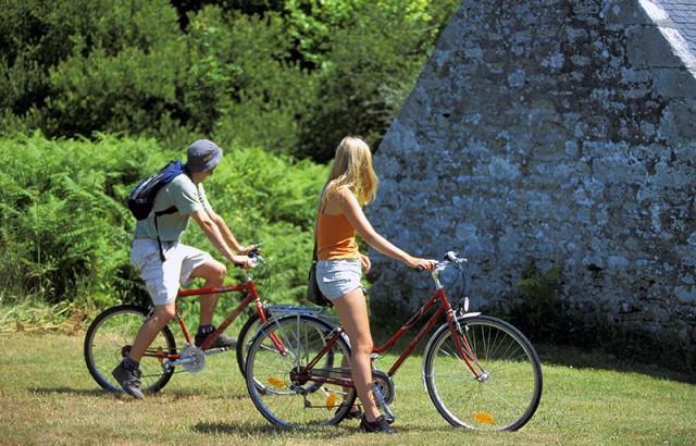 Vélo sur les îles et autour du Golfe
