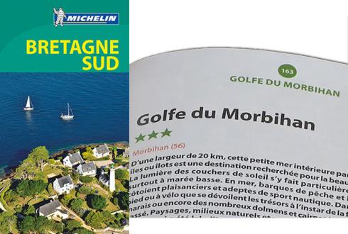 Le Golfe du Morbihan 3 étoiles dans le Guide Vert Michelin