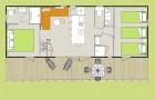 Plan du Cottage Zen pour 5 personnes
