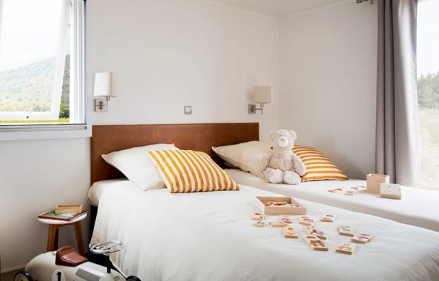 Chambre enfants du cottage Zen avec 3 lits simples ©O'Hara