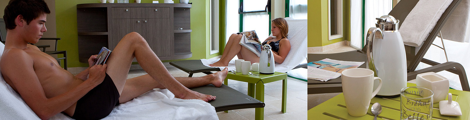 Unwind during a relaxing moment in the Spa
