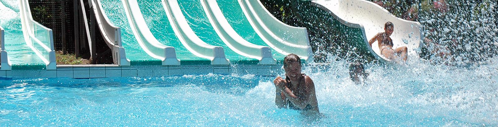 Genießen Sie unseren Aquapark in vollen Zügen