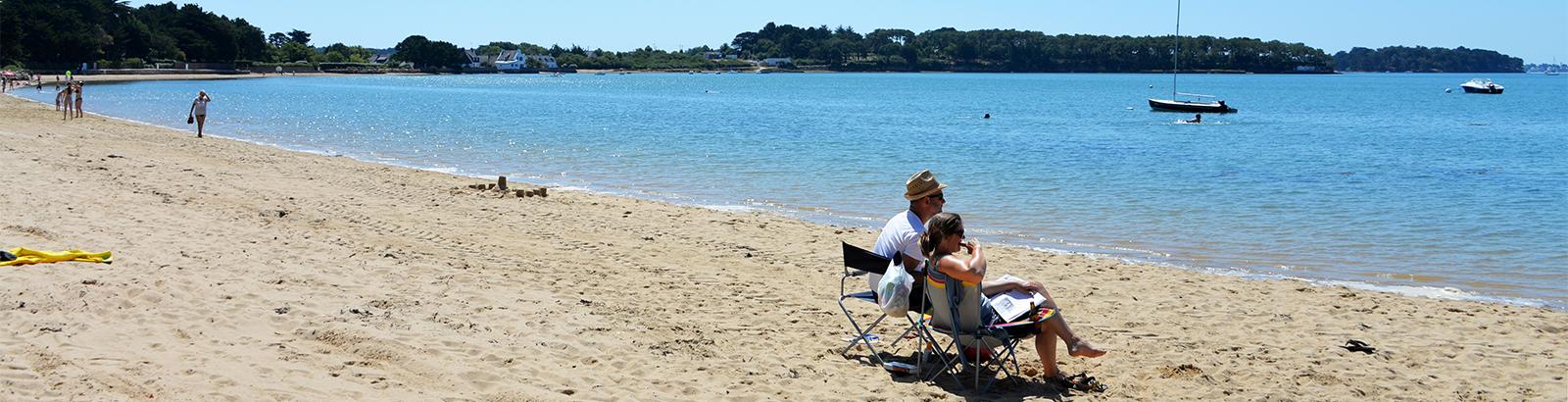 Locmiquel strand 150m van de Villa de la Plage