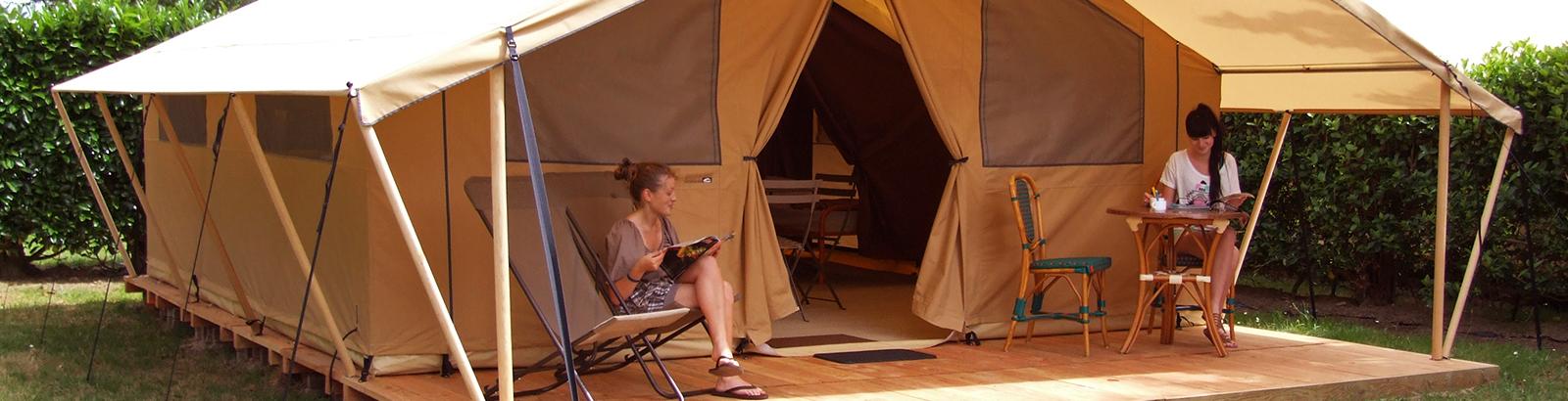 Comfortabele vakantie in ingerichte tent Safari