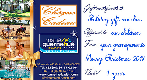 holiday gift voucher mane guernehue baden south brittany
