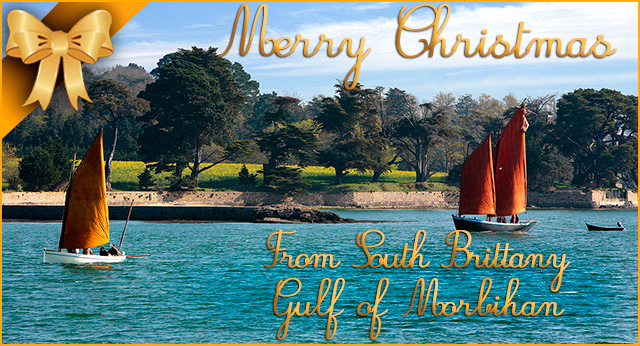 merry christmas from south brittany gulf of morbihan