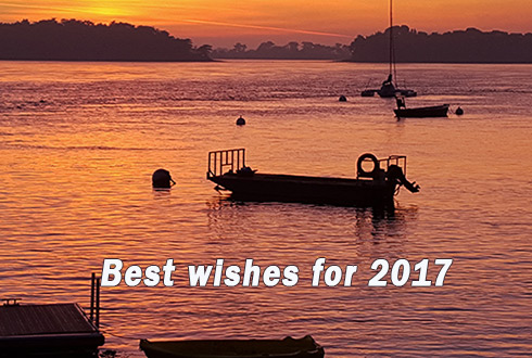 Best wishes for 2017 from the Gulf of Morbihan