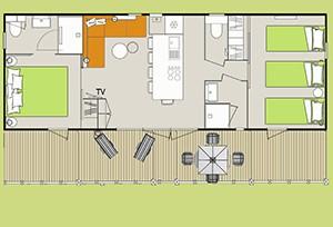 Plan cottage Zen 4 fleurs