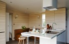Cottage Zen : cuisine en îlot