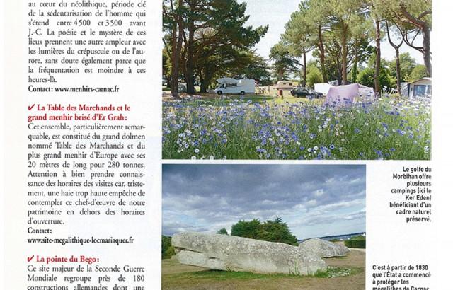 Camping Ker Eden dans le magazine Le Monde du Plein Air