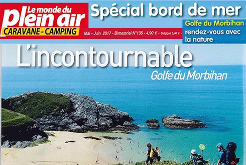 Le Golfe du Morbihan dans le magazine Le Monde du Plein Air