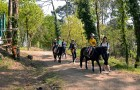 Promenade à poney accompagnée par les parents