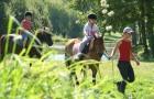 Balade à poney accompagnée par les parents