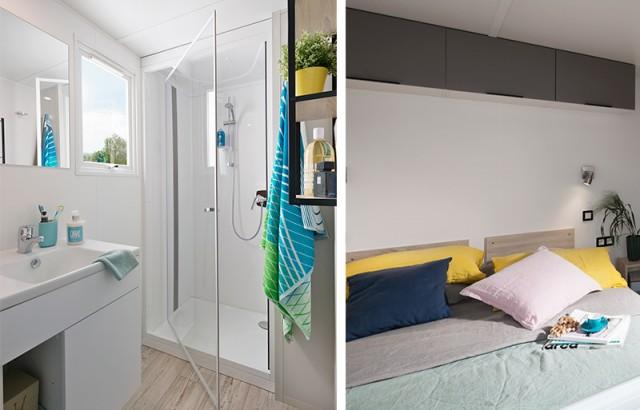Cottage Atlantique salle de bain et chambre parents