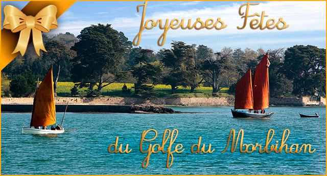 Joyeuses fêtes du Golfe du Morbihan Camping Mané Guernehué Baden