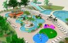 Vue du parc aquatique agrandi