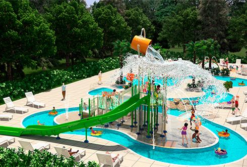 Le nouveau parc aqualudique à Mané Guernehué