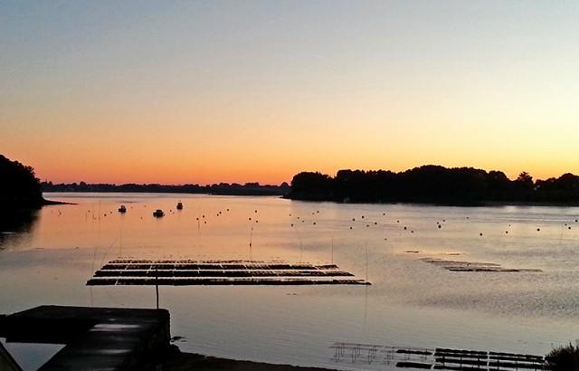 Coucher de soleil sur le Golfe du Morbihan au Printemps