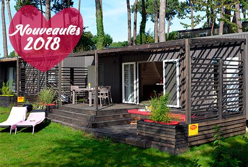 Nouveaux mobil-homes au camping Mané Guernehué