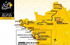 Carte du Tour de France étapes en Bretagne