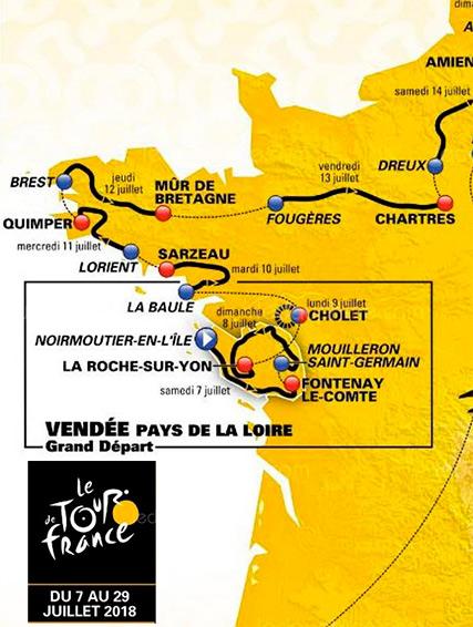 Le Tour de France en vélo fait étape en Bretagne